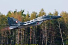 Polish Air Force / Mikoyan-Gurevich MiG-29A / 67 / Kleine Brogel Air Base / 13.09.14 (Marcin Sikorzak) Tags: force air polish adrian base 67 kleine brogel mikoyangurevich rojek mig29a 130914