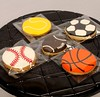 Sports ball theme royal icing cookie (the Baker & the School) Tags: boy man basketball cake table football baseball rugby soccer royal guys cricket tennis teen gift return snack icing theme piping sporty