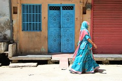 Blue composition (Shrimaitreya) Tags: india colorful indian hindu hinduism rajasthan bharat incredibleindia