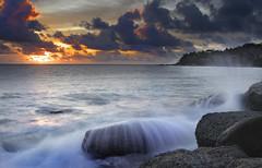 Golden Sunset || Thailand (edwinemmerick) Tags: ocean sunset sea seascape water rock canon thailand coast shoreline wave dos shore 7d coastline edwin emmerick edwinemmerick