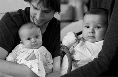 The Twins (jayneboo) Tags: family boy portrait bw baby girl twins diptych mood ben grandchildren 365 norah blessed odc mrts365