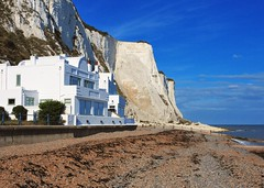 St. Margaret's Bay, Dover (gillybooze (David)) Tags: building weather architecture clouds beaches vista whitecliffs dover jamesbond noelcoward ianfleming ©allrightsreserved stmagaretsbay