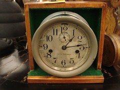 "SETH THOMAS SHIP'S CLOCK, NO CHIME, RUNS WELL. • <a style=""font-size:0.8em;"" href=""http://www.flickr.com/photos/51721355@N02/15419548251/"" target=""_blank"">View on Flickr</a>"