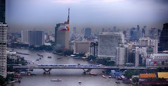 Bangkok, Thailand 2014 (drburtoni) Tags: river thailand bangkok skytrain chaopraya bts