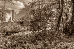 The ruins of Brederode (McQuaide Photography) Tags: autumn holland netherlands monochrome canon eos europe herfst nederland wideangle handheld dslr hdr lightroom uwa wideanglelens santpoort ultrawideangle tonemapped photomatixpro 100d 1018mm mcquaidephotography