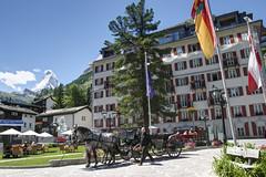 Zermatt (Alcu3- www.thisthatandthepassport.com) Tags: travel viaje summer horse mountain snow alps tourism hotel switzerland europa europe carriage suiza verano zermatt matterhorn turismo