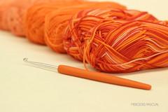 LANA en dgrad (cositasspb) Tags: lana naranja croch ganchillo calidad100algodon