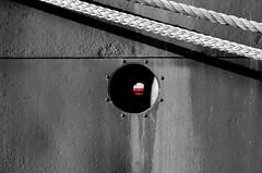 Porthole (pjpink) Tags: nyc newyorkcity summer newyork sailing ship manhattan details hamburg september southstreetseaport historical seaport peking selectivecolor 2014 hss pjpink