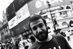 you're my favourite daydream. (youcancallmefi) Tags: friends bw black london love beautiful breakfast club analog 35mm him blackwhite minolta leicester trafalgar off days manuel joao londoner