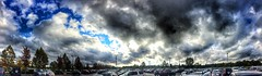 The not so friendly skies. (Howard TJ) Tags: columbus ohio sky autostitch dublin clouds stitch panoramic iphone pickerington howardtj snapseed