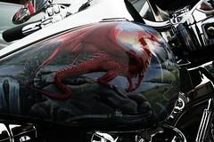 air brush art work brighton (rocker_mummy) Tags: charity honda sussex coast brighton dragon rally busy harleydavidson triumph suzuki custom motorbikes bikers mods crammed ratbike mythical trikers brightona