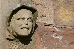 TAM O' SHANTER (simongavin83) Tags: sculpture church stone wall person weird scary sandstone stonework masonry stonecarving eerie carving creepy spooky haunting robertburns ghostly sculpted tamoshanter alloway
