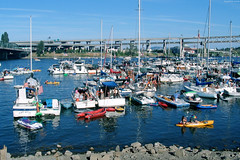 "Dozens of Boats & Rafts in Willamette River • <a style=""font-size:0.8em;"" href=""http://www.flickr.com/photos/34843984@N07/15546096552/"" target=""_blank"">View on Flickr</a>"