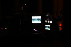 Haiku Salut - Lamp  Show (cath dupuy) Tags: show light music green london lamp silhouette st photography lights concert colours shadows haiku derbyshire low gig bethnal lamps johns synthesizer salut