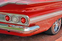 1960 Chevy Impala Detail (Brad Harding Photography) Tags: red detail classic chevrolet car closeup automobile antique chevy chrome kansas vehicle historical impala 60 carshow taillight 1960 baldwincity pistons'n'pinupsfestivalhotrodcarcustombikeshow