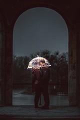 under my umbrella (thombe77) Tags: canon eos 7d 50mm light licht fairylights fairy lights lichterkette umbrella schirm brandon woelfel couple paar pärchen love liebe night nacht pavillon
