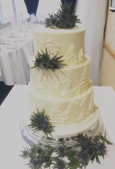 Thistle Buttercream Wedding Cake