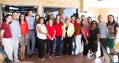 Presidente do Sistema Fecomércio RN, Marcelo Queiroz, recebe gestores do Sesc e alunos veteranos e novatos da Escola Sesc de Ensino Médio para almoço