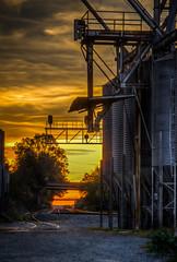 Railroad Tracks & Tanks (donnieking1811) Tags: virginia abingdon railroadtracks tanks sunset sunsets bridges hdr canon 60d