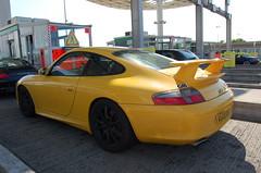 Porsche 996 GT3 MkII (D's Carspotting) Tags: porsche 996 gt3 mkii france coquelles calais yellow 20100613 ag03uay le mans 2010 lm10 lm2010