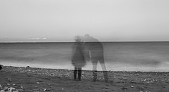 stolen kiss monochrome (PDKImages) Tags: shadows ghosts love kiss beauty not there story looking memories waiting searching disappeared disappearing firstkiss lastkiss silhouettes hooded wishing monochrome sea coast waves blues blue lost palomarenaissance sky turkey