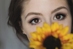 March 26th, 2017 (shelby gill) Tags: sunflower sunflowerportrait beautyportrait closeupportrait indoorstudioportrait naturallighting naturallightportrait selfportrait beautyselfportrait