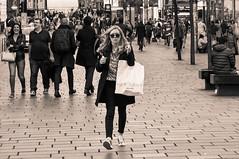 foot first (86/365) (werewegian) Tags: buchanan street tinted bw werewegian shopping mar17 365the2017edition 3652017 day86 27mar17