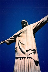 Around South America (14) (The Spirit of the World) Tags: brazil rio statue sculpture icon iconic dramatic southamerica famous landmark artdeco art christtheredeemer riodejaneiro print film analog photography