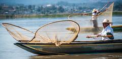2016 - Mexico - Pátzcuaro -Lake Pátzcuaro Fishermen - 1 of 2 (Ted's photos - Returns Mid May) Tags: 2016 cropped mexico michoacán nikon nikond750 nikonfx patzcuaro tedmcgrath tedsphotos tedsphotosmexico vignetting pátzcuaro pátzcuaromichoacan lake fisherman net boat water paddle oar narrowboat hat strawhat bokeh lakepátzcuaro two duo pair man male