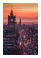 Princes Street at Dusk (Vemsteroo) Tags: edinburgh scotland princesstreet dusk sunset city urban cityscape beautiful longexposure fuji fujifilm xt2 50140mm leefilters littlestopper circularpolariser scottmonument clocktower iconic epic evening busy portrait warm old new architecture visitscotland visitbritain