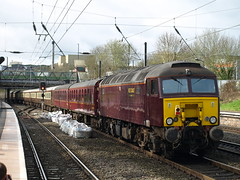 West Coast Railways Class 57s 57313 and 57316 cruise through Longbridge (Oz_97) Tags: westcoastrailways longbridge 57313 57316