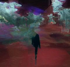 Le rescapé II (pahamel-mtl) Tags: glazeapp slowshutterapp night silhouette art