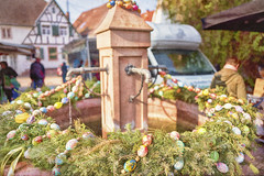 Easter decoration of our old well (jgokoepke) Tags: well easter decoration water eggs paintedeggs rohrbach heidelberg germany
