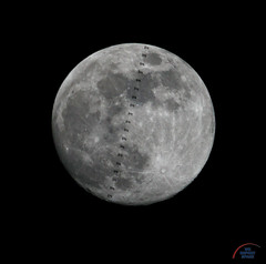 ISS / Lunar transit (Michael Seeley) Tags: cocoabeach gibbousmoon iss internationalspacestation michaelseeley mikeseeley moon nasa peggywhitson shanekimbrough spacecoast spotthestation thomaspesquet waxinggibbousmoon