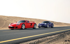 Family. (Alex Penfold) Tags: porsche cgt carrera gt red 991 911 gt3 rs purple supercars supercar super car cars autos alex penfold 2017 dubai middle east