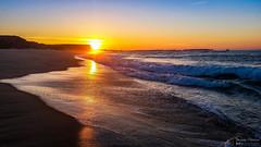 Entardecer na Praia da Almagreira - Sunset on the beach of Almagreira (Yako36) Tags: portugal peniche almagreiira praia beach sea seascape paisagem mar samsunggalaxys5