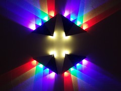 Falafel house light (maellevanrell) Tags: psychedelic led light neon spotlights robot cyber symmetry