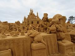 Mad Hatters tea party (Joybelle007) Tags: sandsculptures frankston australia clever