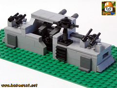 MICRO COASTAL DEFENCE 02 (baronsat) Tags: lego model custom moc military ww2 war toy diorama playset micro tank bunker german allies armored gun cannon panzer nazi us british world
