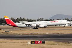 547C0617_Mar29_EC-JPU (FelipeGR90) Tags: aeropuerto internacional benito juarez ciudad de mexico city a340 a340600 a346 aicm airbus cdmx ecjpu ib ibe iberia mex mmmx