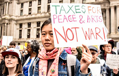 Photos at Apr15 Philly anti-Trump march (joepiette2) Tags: stoptrump bombs war demonstrations protests