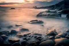 Little Haven Sunset (garethleethomas) Tags: beach pebbles shore shoreline seaside sunset sky calm longexposure slowshutter seascape uk wales greatbritain landscape