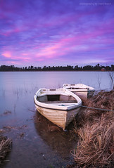 End of the day (marc_leach) Tags: sunset dusk boats reservoir water lake landscape sky outdoors rural clouds sun trees longexposure wind nikon leicestershire cropston uk england