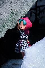 Red riding hood (A-Drycha) Tags: monster high doll ooak custom wig repaint mattel monsterhigh one kind oneofakind dark gothic photo red riding hood cleo howleen hybryd