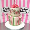 2-tier Mad Hatter style Wedding Cake with green and pink stripes, daisies swoosh on top tier, 3D floppy fondant pink roses & green twirls (Charly's Bakery) Tags: madhatter topsyturvy weddingcake 2tier weddingcakecapetown cakecapetown capetown bakerycapetown wickedchocolate muckingafazing