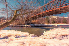 Is the winter gone yet...? (Sorin Popovich) Tags: streetsville streetsvillememorialpark mississauga ontario canada creditriver winter snow river bridge