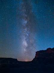 Milky Way rises over Chaco Canyon (www.clineriverphotography.com) Tags: night 2014 milkyway chacoculturenationalhistoricpark vertical aspect gallocampground location newmexico usa light