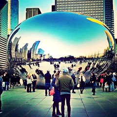 The bean (willterm) Tags: chicago usa millenniumpark bean cloudgate downtown home city