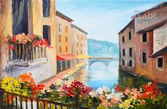oil painting, canal in Venice, Italy, famous tourist place, colorful impressionism (shadowbilgisayar) Tags: painting oil old famous art italian historical town gondolier travel italy gondola view red european landmark architectural holiday canvas venice venetian traditional building historic canal illustration transport artwork retro design architecture city colorful watercolor house boat tourism romantic artistic ancient vintage style sea background water bridge vacation europe landscape cityscape ukraine