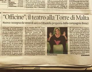 """Ieri si """"Il Mattino di Padova"""", si parlava della nostra nuova avventura! #teatrobresci #theatrelife #theaterlife #teatro #officina #neverstop #cittadella"""